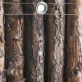 Brise vue occultant 1.5 x 5 m motif bois 160 GR/M²
