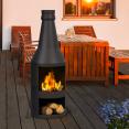 Brasero de jardin cheminée en acier noir
