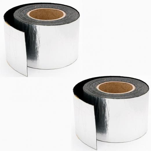 Set X2 bandes étanchéité Aluminium 10M adhésives