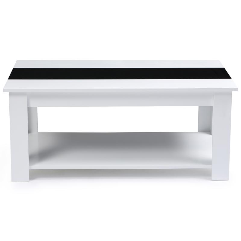 meilleures baskets 672ab 1c647 Table basse contemporaine TAO plateau relevable bois blanc ...