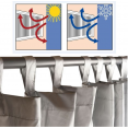 Rideau thermique isolant anti froid pour fenêtre