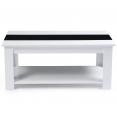 Table basse contemporaine bois blanc et noir GLORIA