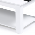 Table basse contemporaine bois blanc et noir GLORIA