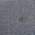 Lit scandinave Oslo en tissu 140x190cm gris anthracite
