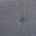 Lit scandinave Oslo en tissu 160x200cm gris anthracite