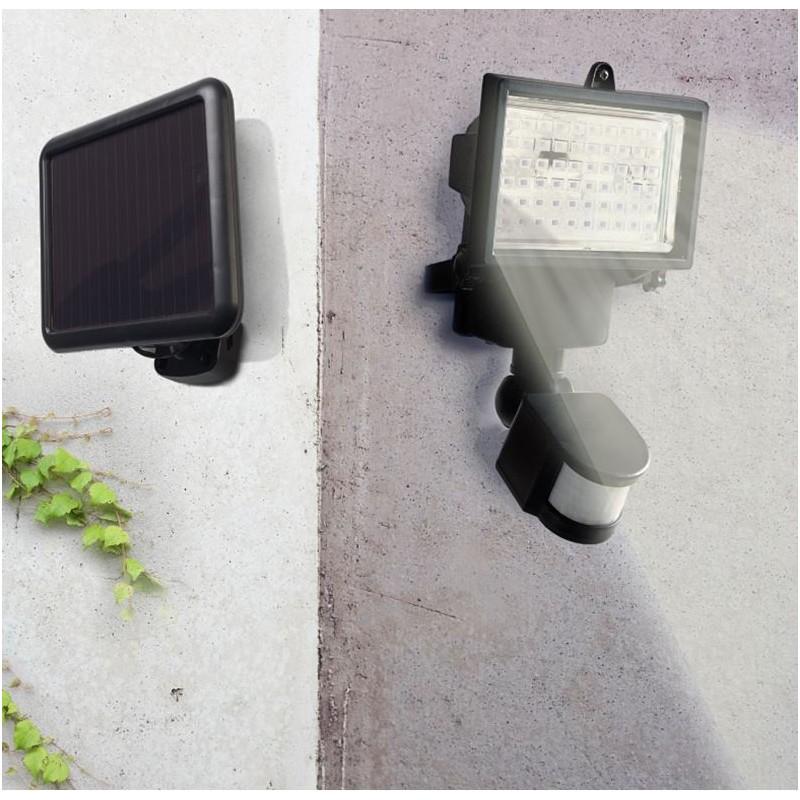 projecteur solaire 60 leds avec d tecteur de mouvement orientable. Black Bedroom Furniture Sets. Home Design Ideas