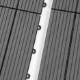 Dalles de terrasse x5 clipsables bois composite gris