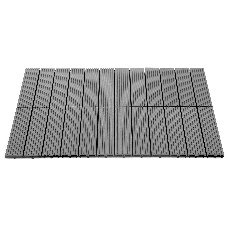 Dalles De Bois Pour Jardin dalles de terrasse x5 clipsables bois composite gris idmarket