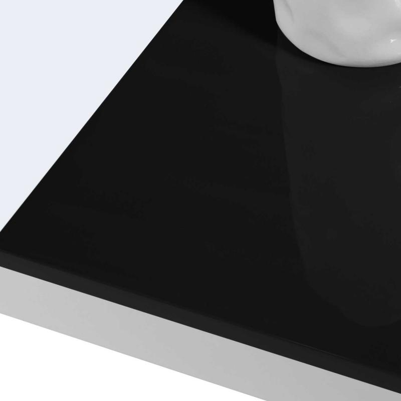 table basse contemporaine bois blanc et noir georgia. Black Bedroom Furniture Sets. Home Design Ideas