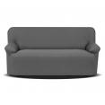 Housse pour canapé 3 places grise