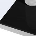 Table basse contemporaine TAO plateau relevable bois blanc et noir