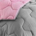 Couette bicolore rose et gris 220x240 CM 300 gr