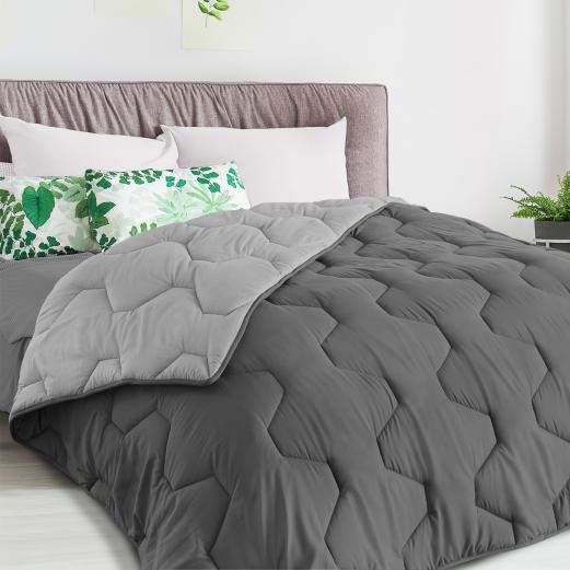Couette bicolore gris foncé et gris 220x240 CM 300 gr