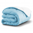 Couette bicolore bleu et blanc 220x240 CM 300 gr