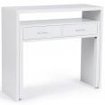 Bureau extensible bois blanc