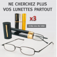 Ensemble de 3 lunettes loupe indice 250 avec 3 étuis
