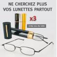 Ensemble de 3 lunettes loupe indice 300 avec 3 étuis