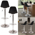 Lot de 2 tabourets de bar design noir