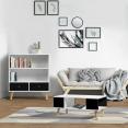 Table basse EFFIE scandinave bois blanc et noir