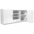 Buffet contemporain PORTLAND blanc / portes blanches