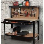 Etabli d'atelier complet avec panneau porte outils et tiroir