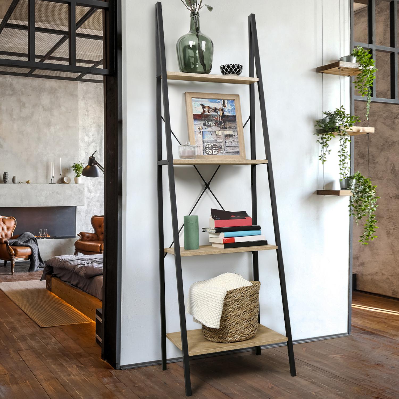 Deco Avec Une Echelle En Bois etagère échelle 4 niveaux detroit design industriel idmarket