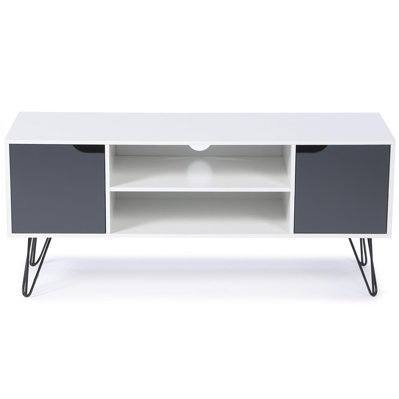 Quelle Hauteur Meuble Tv meuble tv vintage noemi bois blanc pied épingle idmarket