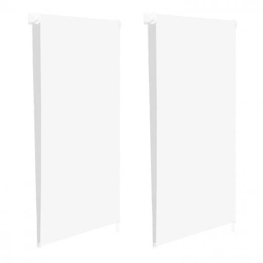 Store enrouleur 100% occultant l.60 x H. max 170 CM blanc x2