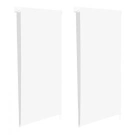 Store enrouleur 100% occultant l.70 x H. max 170 CM blanc x2