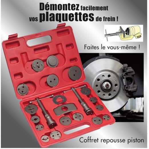 Coffret kit repousse piston 21 pcs universel
