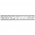 Fenêtre aluminium pour panneau occultant taupe 170x21.7 CM