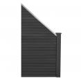 Kit incliné panneau occultant en bois composite gris 100 x 107-188 CM