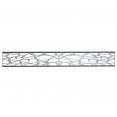 Fenêtre aluminium pour panneau occultant gris 170x21.7 CM