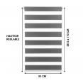 Store enrouleur zébré jour nuit l.55 x H. max 170 CM gris x2