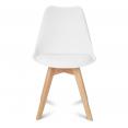 Chaises X4 SARA blanches pour salle à manger design scandinave