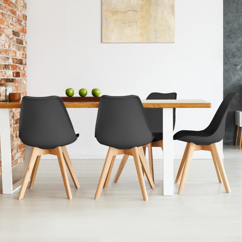 Chaises X4 Sara noires pour salle à manger Meubles et aménagement