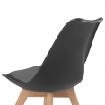 Chaises X4 style scandinave noires pour salle à manger