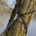 Hamac de randonnée 275 x 140 cm bleu contours gris