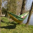 Hamac de randonnée 275 x 140 cm jaune contours verts