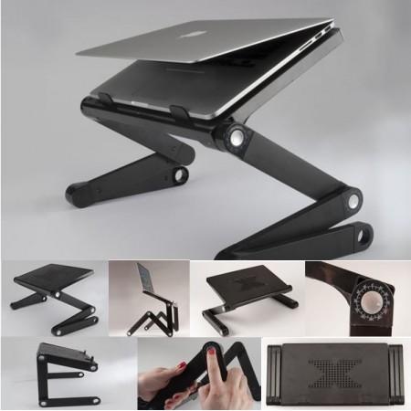 tablette multifonctions support pour odinateur portable ou. Black Bedroom Furniture Sets. Home Design Ideas