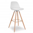 Tabouret de bar SARA blanc en lot X4