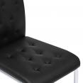 Lot de 4 chaises MIA capitonnées noires pour salle à manger