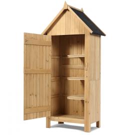Armoire cabane de jardin en bois naturel