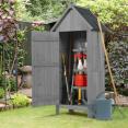 Armoire cabane de jardin en bois gris