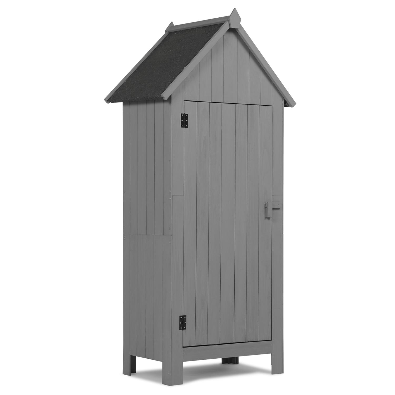 Armoire cabane de jardin en bois gris Armoire jardin