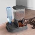 Distributeur gris eau et croquettes automatique pour chien et chat