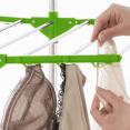 Séchoir à linge inox MAXIMA vert étendoir pliable