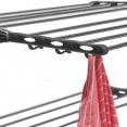 Séchoir à linge gris 4 niveaux réglables XXL + barre télescopique