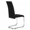 Lot de 4 chaises MIA en tissu noir pour salle à manger