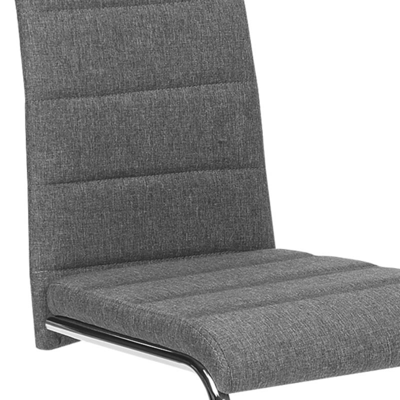 Lot de 4 chaises MIA en tissu gris anthracite pour salle à ...